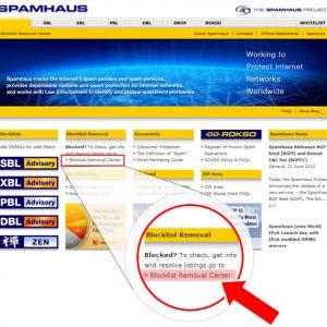 Cómo eliminar la IP de mi servidor de correo de listas negras Spamhaus