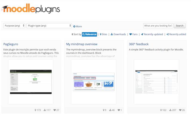 Conozca actualizaciones en el directorio de plugins de Moodle