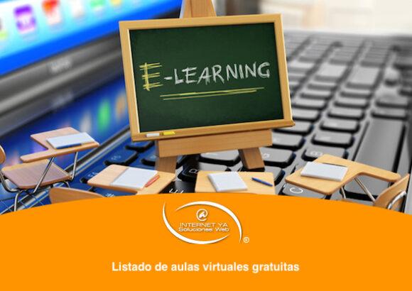 Listado de aulas virtuales gratuitas